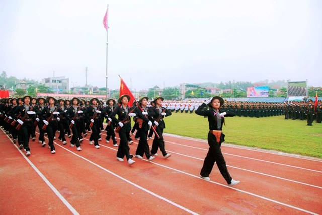 Khối nữ chiến sĩ du kích miền Nam. Nguồn infonet.vn
