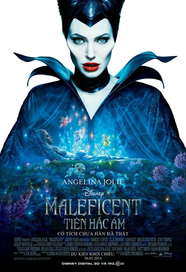 Angelina Jolie được chọn làm poster cho bộ phim Maleficent.