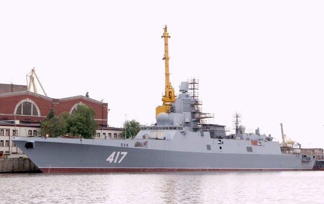 Khinh hạm đầu tiên thuộc đề án 22350 của Hải quân Nga.