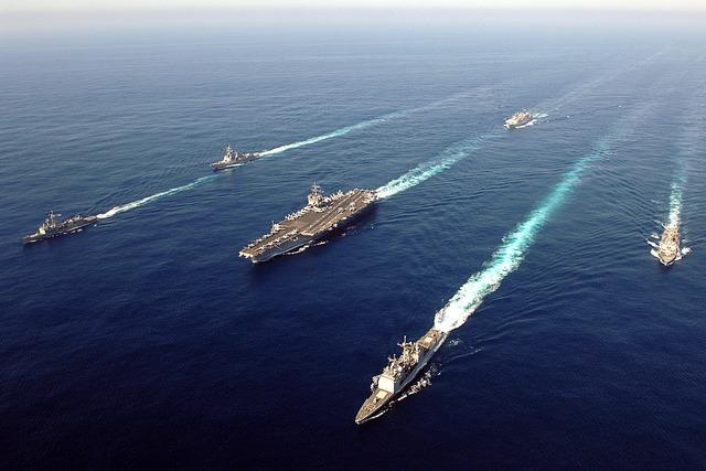 Nhóm tác chiến tàu sân bay của Hải quân Mỹ.