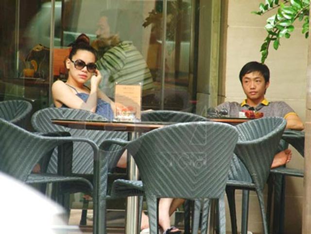 Bức ảnh này được chụp khi Hồ Ngọc Hà ra ngoài cùng Cường đôla trong thời gian mang thai.