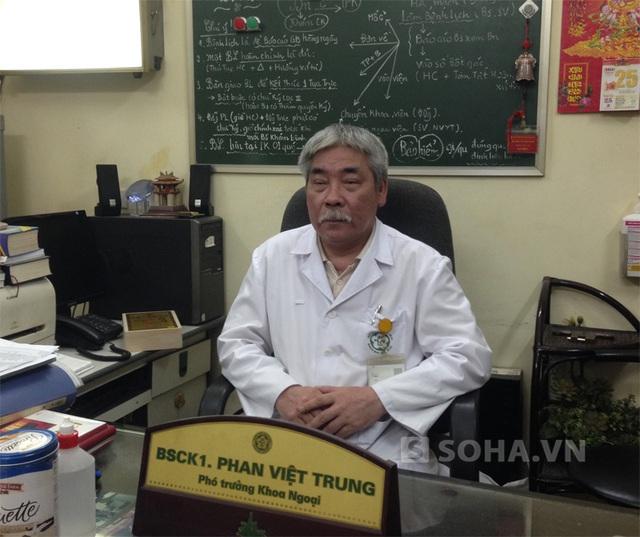 Thầy thuốc ưu tú, Phan Việt trung, Bí thu chi bộ, Phó trưởng khoa Ngoại (Bệnh viện Bạch Mai).