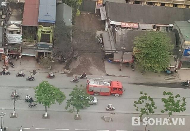Xe cứu hỏa được điều đến nơi xuất hiện đám cháy