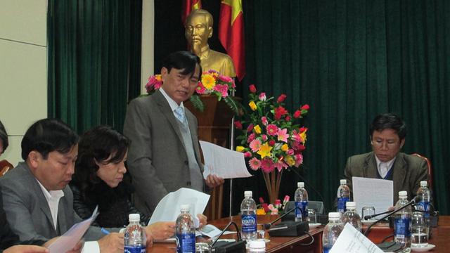 Ông Đinh Quý Nhân tại buổi họp báo sáng 11/2 (Ảnh: Lam Giang/Tuổi trẻ)