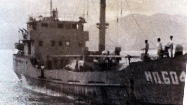 Tàu HQ-604 chụp ngày 10/3/1988 và đã bị bắn chìm tại vùng biển Gạc Ma 4 ngày sau đó (Ảnh tư liệu Lữ đoàn 125)