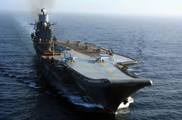 Tàu sân bay Admiral Kuznetsov.