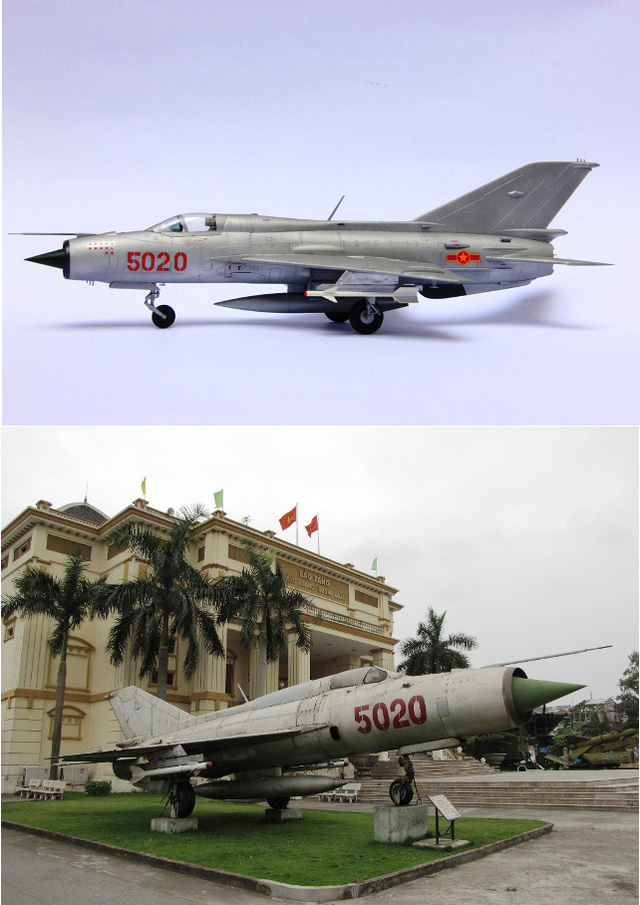 MiG-21 số hiệu 5020 do phi công Nguyễn Tiến Sâm điều khiển