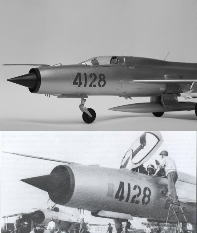 Hình ảnh thật của chiếc MiG-21PF số hiệu 4128