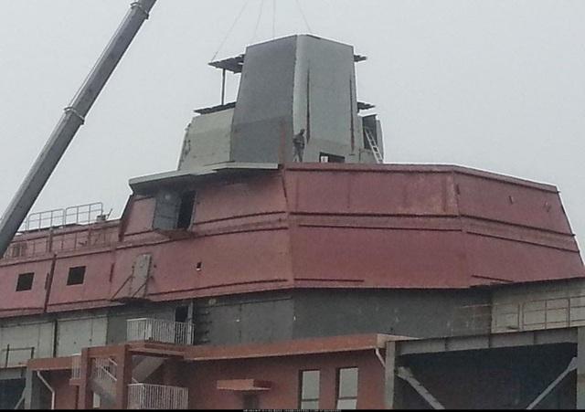 Mô hình tàu chiến mới của Trung Quốc.