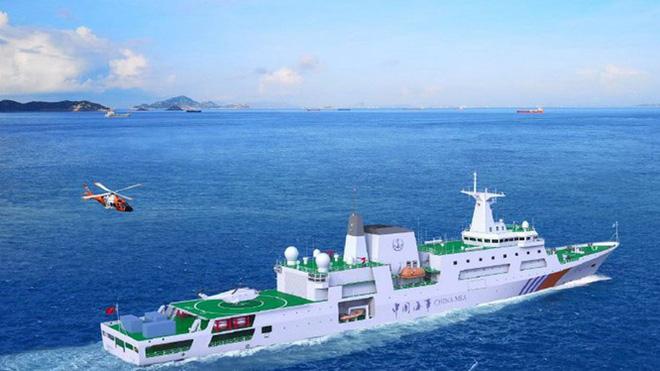 Tăng cường lực lượng trên Biển Đông, Trung Quốc hạ thủy tàu tuần tra khủng - Ảnh 1.