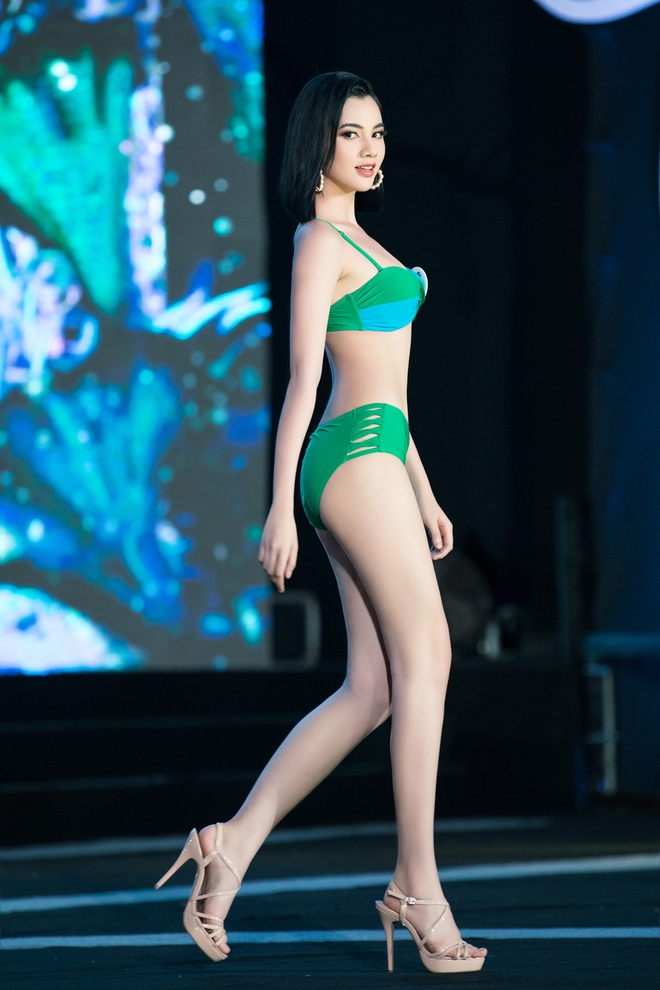 Cận cảnh màn thi bikini nóng bỏng của các thí sinh đẹp nhất, lọt bán kết Hoa hậu VN 2020 - Ảnh 3.