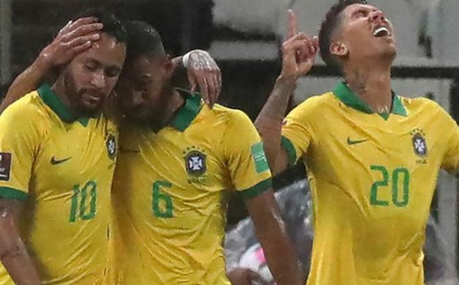 """Neymar đóng vai """"kép phụ"""", tuyển Brazil thắng tưng bừng 5 sao ở trận ra quân vòng loại World Cup"""
