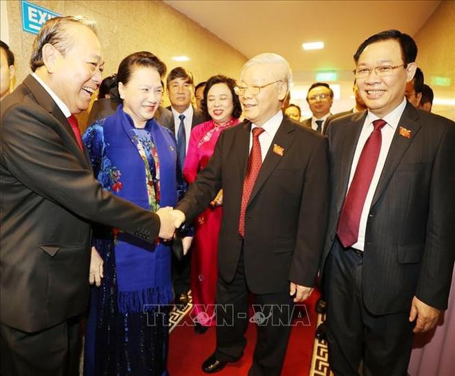 Tổng Bí thư, Chủ tịch nước Nguyễn Phú Trọng dự Đại hội đại biểu Đảng bộ thành phố Hà Nội - Ảnh 11.