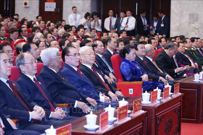Tổng Bí thư, Chủ tịch nước Nguyễn Phú Trọng dự Đại hội đại biểu Đảng bộ thành phố Hà Nội - Ảnh 4.