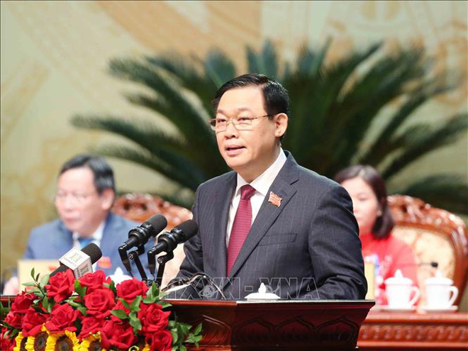 Tổng Bí thư, Chủ tịch nước Nguyễn Phú Trọng dự Đại hội đại biểu Đảng bộ thành phố Hà Nội - Ảnh 5.