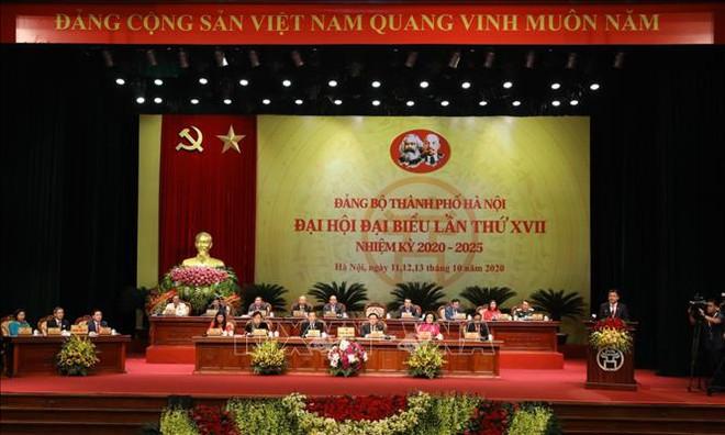 Tổng Bí thư, Chủ tịch nước Nguyễn Phú Trọng dự Đại hội đại biểu Đảng bộ thành phố Hà Nội - Ảnh 6.