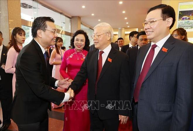 Tổng Bí thư, Chủ tịch nước Nguyễn Phú Trọng dự Đại hội đại biểu Đảng bộ thành phố Hà Nội - Ảnh 9.