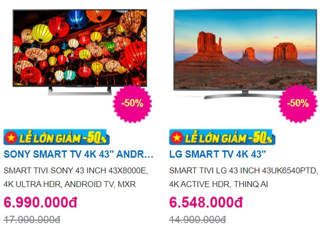 """Trong """"bão"""" giảm giá 50%, tivi 4K 43 inch có giá bán rẻ không tưởng - Ảnh 2."""