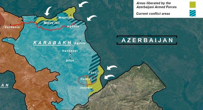 Tử chiến giành từng tấc đất ở Hadrut: Bước ngoặt trong xung đột Armenia - Azerbaijan? - Ảnh 1.