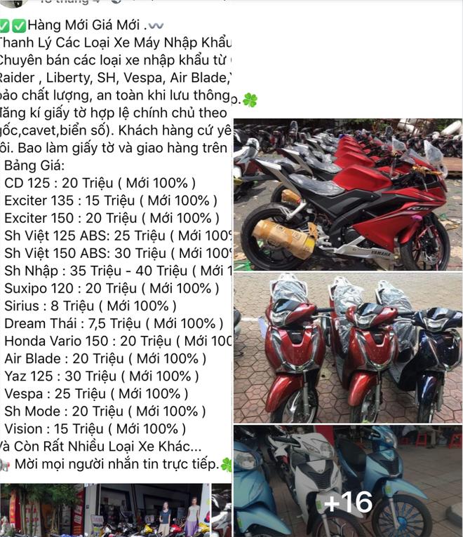 Không có xe SH vẫn đăng lên facebook rao bán giá cực rẻ để lừa gần trăm triệu đồng - Ảnh 3.