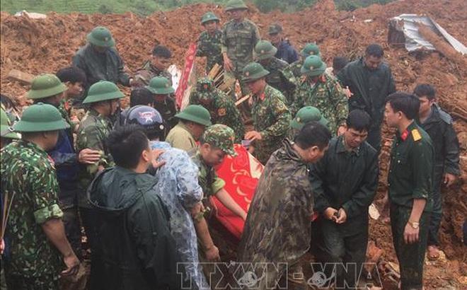 Sạt lở đặc biệt nghiêm trọng tại Quảng Trị làm vùi lấp 22 cán bộ, chiến sĩ: Tìm thấy 14 thi thể, điều 2 trực thăng cứu nạn