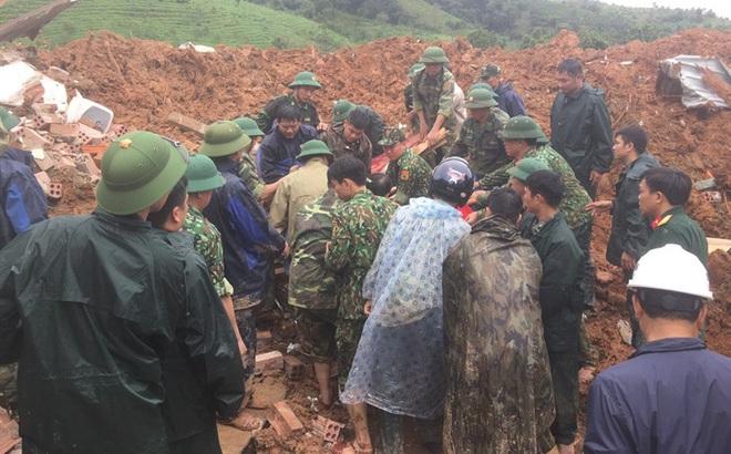 Danh sách 22 cán bộ, chiến sĩ mất tích do sạt lở đặc biệt nghiêm trọng tại Quảng Trị