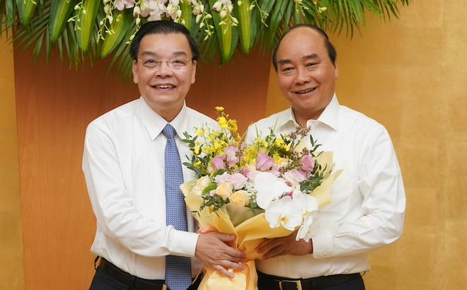 Thủ tướng chúc mừng Bộ trưởng KH&CN Chu Ngọc Anh nhận nhiệm vụ Chủ tịch Hà Nội