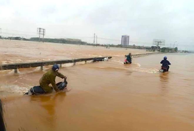 Video đoàn ô tô bò trên QL1A ngập sâu, người đi xe máy bị nước lũ xô nghiêng ngả - Ảnh 16.