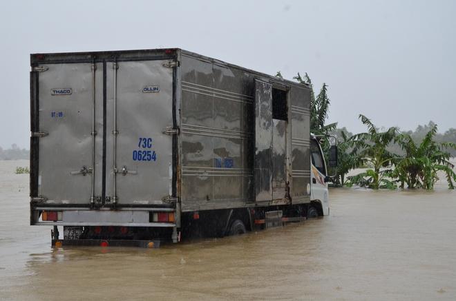Dân Quảng Bình lùa trâu lên quốc lộ tránh lũ, cứu hộ chạy đua giải cứu bà cụ gãy chân tay kẹt trong nước - Ảnh 15.