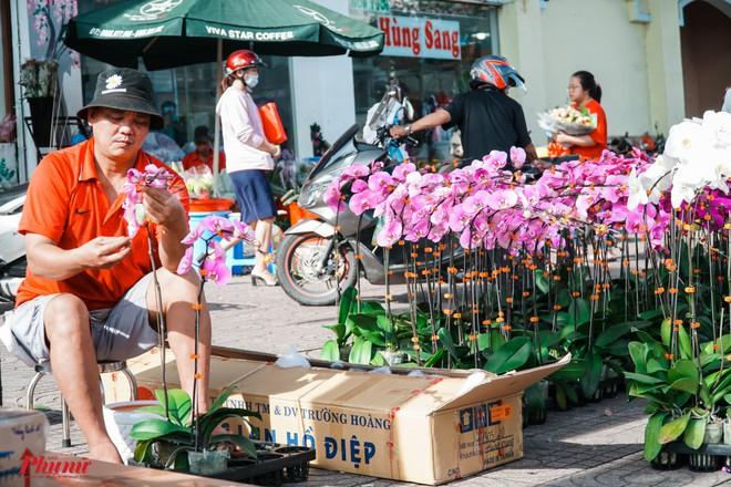 Chợ hoa sỉ lớn nhất Sài Gòn nhộn nhịp khách mua lẻ - Ảnh 3.