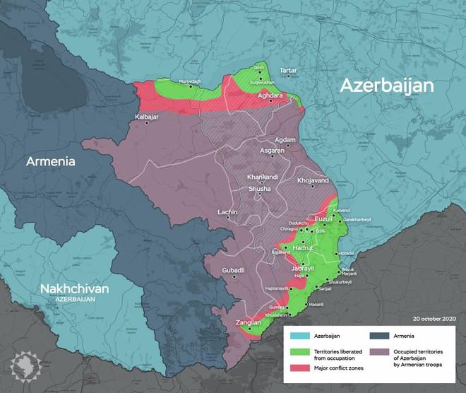 Azerbaijan thắng như chẻ tre, phòng tuyến Karabakh sụp đổ: Biên giới Armenia nguy cấp - Ảnh 1.