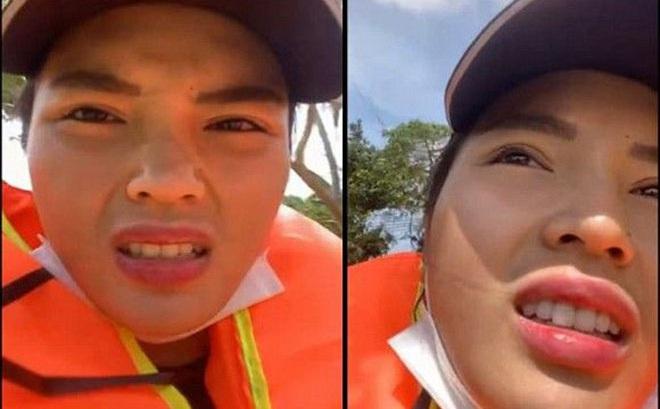 Hoa hậu Kỳ Duyên bị lật thuyền khi đi cứu trợ người dân vùng lũ