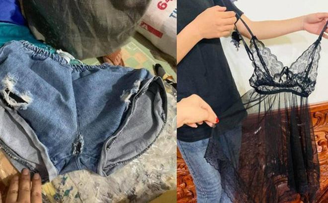Ngán ngẩm cảnh quần áo rách, váy 2 dây, đồ lót đã qua sử dụng… được đem đi từ thiện, ủng hộ người dân miền Trung