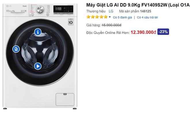 Máy giặt xịn treo biển bán giá gốc sốc không tưởng, loại giặt sấy chưa đến 7 triệu - Ảnh 1.