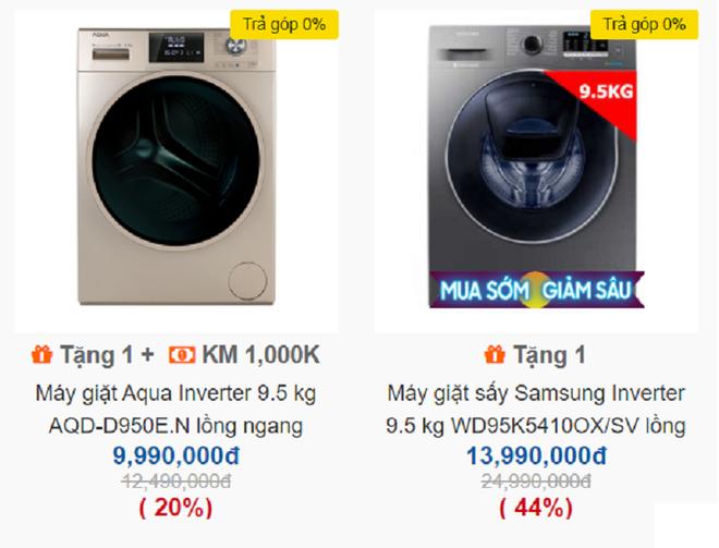 Máy giặt xịn treo biển bán giá gốc sốc không tưởng, loại giặt sấy chưa đến 7 triệu - Ảnh 2.