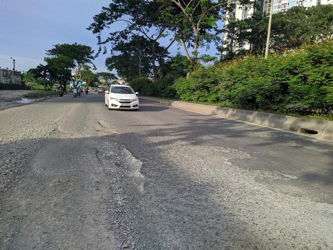 Ổ gà, ổ voi chằng chịt trên đại lộ 100 triệu USD, con đường đẹp nhất phía nam Sài Gòn - Ảnh 2.