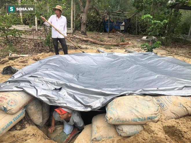 Căn hầm tránh bão số 9 độc lạ, nằm sâu dưới lòng cát của người dân vùng biển Quảng Nam - Ảnh 7.