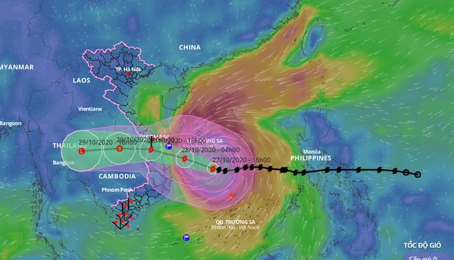 Bão số 9 bắt đầu gây gió mạnh trên đất liền; Thủ tướng gửi công điện yêu cầu khẩn trương ứng phó - Ảnh 1.