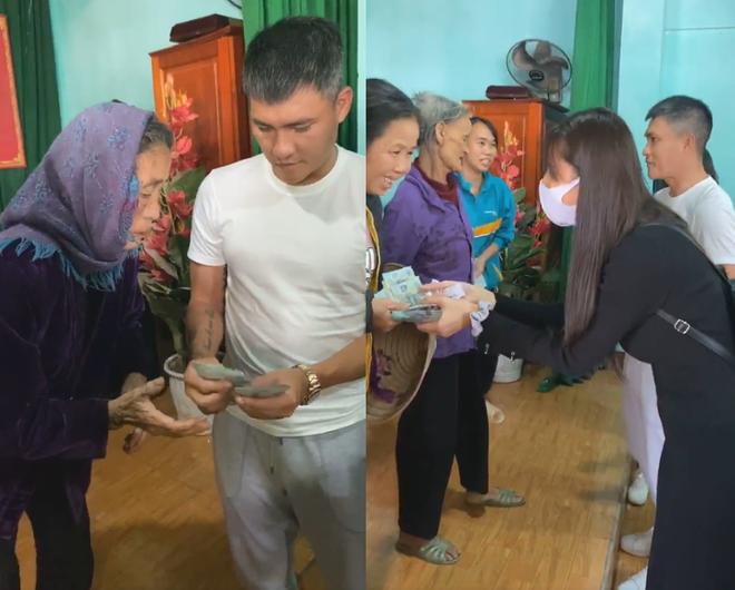Cụ ông khóc nghẹn khi được vợ chồng Thủy Tiên trao tặng 210 triệu đồng để trả nợ - Ảnh 8.