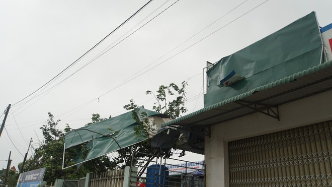 THIỆT HẠI DO BÃO SỐ 9: Quảng Ngãi gió giật mạnh, quán xá bay tốc mái, 1 người tử vong khi chằng chống nhà ở - Ảnh 4.