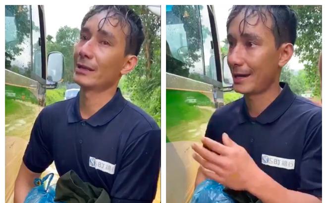 """Đi bộ 1 ngày về Trà Leng khi nghe tin sạt lở kinh hoàng, người đàn ông khóc: """"Em không cần tiền, chỉ xin xe đi thôi"""""""
