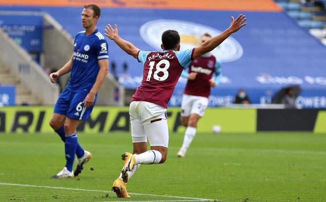 Leicester City bất ngờ thua đậm West Ham ngay trên sân nhà (Vòng 4 Ngoại hạng Anh)