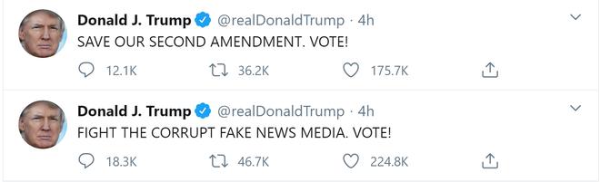Nằm viện nhưng không im lặng; TT Trump gây bão với loạt tweet kêu gọi cử tri ĐI BẦU, ĐI BẦU, ĐI BẦU! - Ảnh 5.