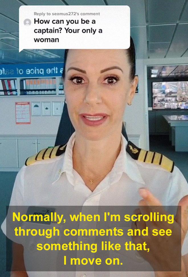 Bị mỉa mai vì là phụ nữ, nữ thuyền trưởng đáp trả sâu cay, dân mạng hết lời khen ngợi - Ảnh 2.