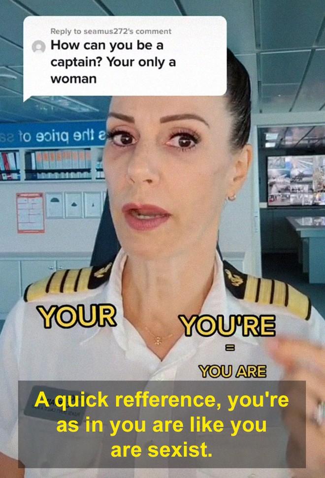Bị mỉa mai vì là phụ nữ, nữ thuyền trưởng đáp trả sâu cay, dân mạng hết lời khen ngợi - Ảnh 8.