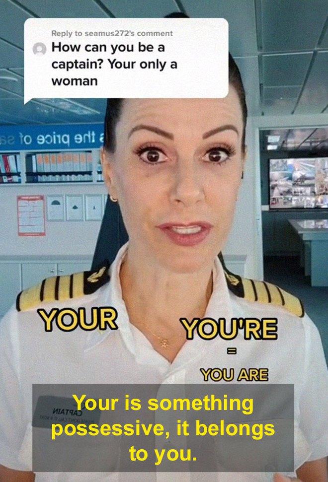 Bị mỉa mai vì là phụ nữ, nữ thuyền trưởng đáp trả sâu cay, dân mạng hết lời khen ngợi - Ảnh 9.