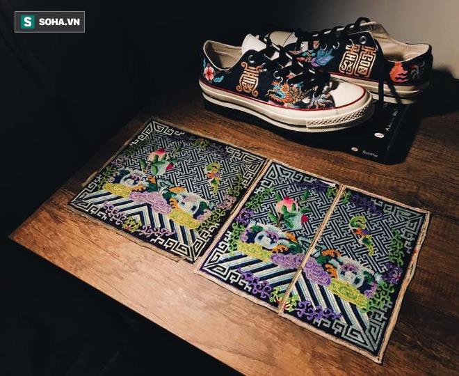 Mua giày Converse nổi tiếng của nước ngoài, vẽ thêm hoa văn Việt Nam, chàng trai bán giá 15 triệu đồng/đôi - Ảnh 7.