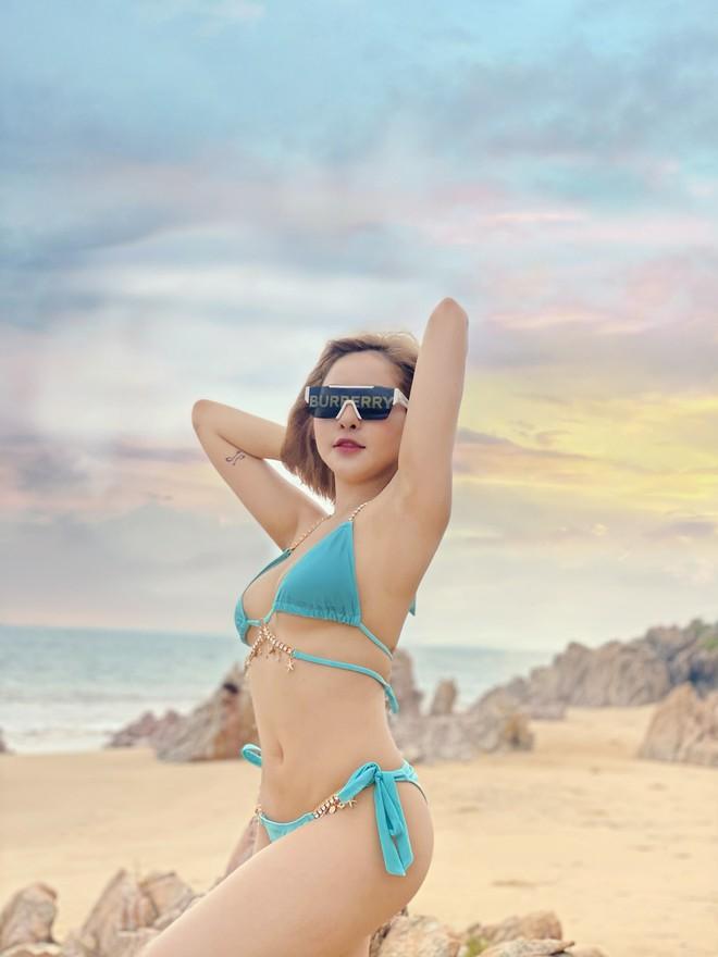 Hot girl Trâm Anh khoe đường cong nóng bỏng - Ảnh 4.
