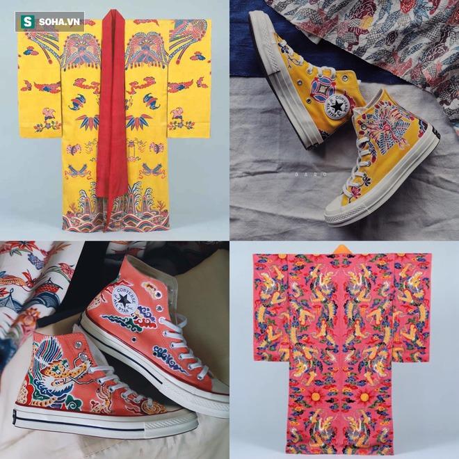 Mua giày Converse nổi tiếng của nước ngoài, vẽ thêm hoa văn Việt Nam, chàng trai bán giá 15 triệu đồng/đôi - Ảnh 3.