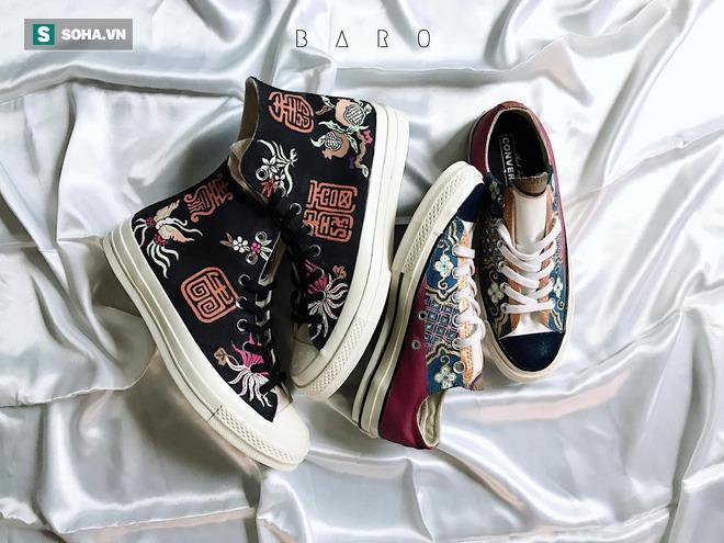 Mua giày Converse nổi tiếng của nước ngoài, vẽ thêm hoa văn Việt Nam, chàng trai bán giá 15 triệu đồng/đôi - Ảnh 8.